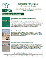 NRMCA Parking Lot Promotion Brochure